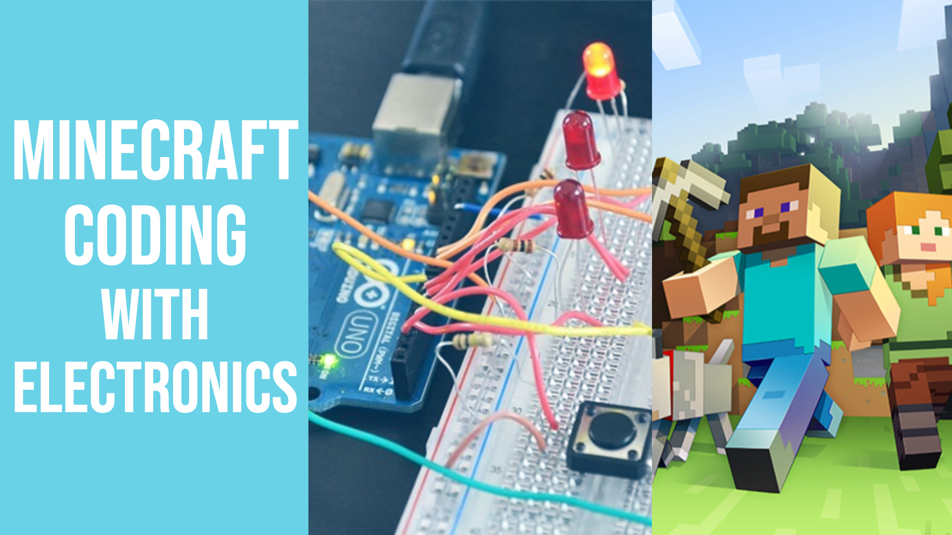 Minecraft Coding with Electronics